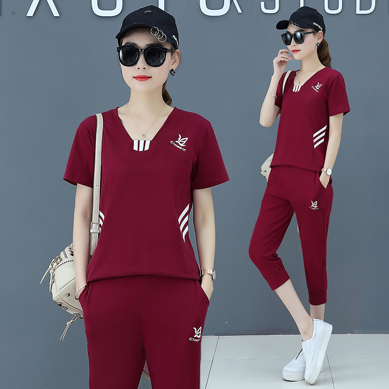 Among The Flowers Ting 2019 Summer Sports Pure Cotton Set
