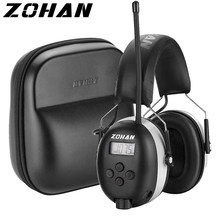 ZOHAN Radio Hearing Protection FM/AM Earmuffs Noise cancellation Headphones Protect Hear Ear protector with Case for Shooting
