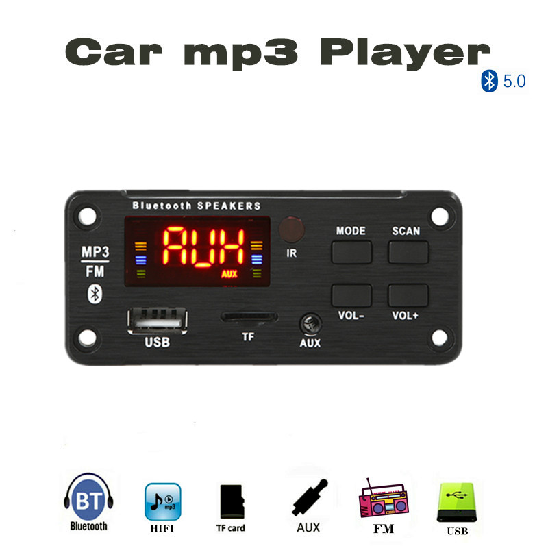 Bluetooth5.0  Decoding Board Module Wireless Car USB Mp3 Player Bluetooth TF Card Slot / USB / FM / Remote Decoding Board Module