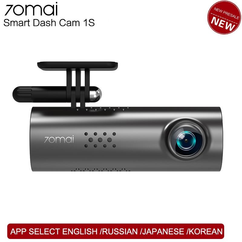 Xiaomi 70mai Dash Cam 1S APP anglais commande vocale voiture DVR 1080HD Vision nocturne Dashcam 70 mai voiture caméra enregistreur WIFI caméra