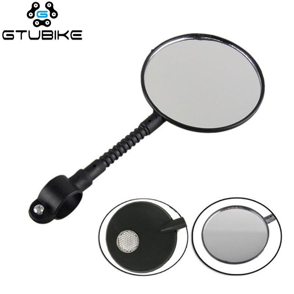 Adjustable Flexible Bicycle Mirror Cycling Rear View Convex Mountain Bike Handlebar Rearview Mirror