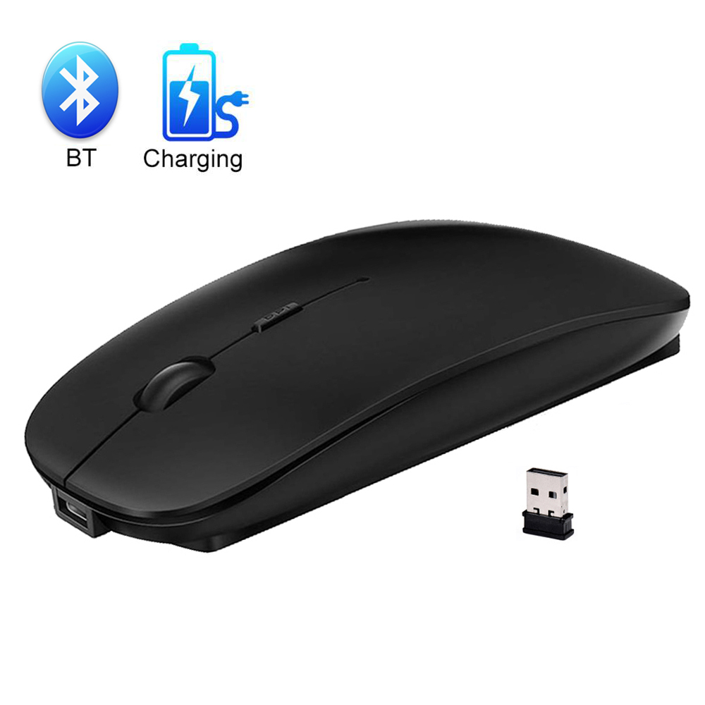 Wireless Mouse Bluetooth Mouse Rechargeable Slient Computer Mouse 2.4Ghz Wireless Ergonomic Mause USB Optical Mice For Pc Loptop