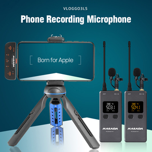 Image 3 - Mailada VLOGGO3L Wireless Microphone w Transmitter Receivers Lavalier Mini Mic for iphone 6 7 8 X XS Xr max iphone 11 iPhone 12