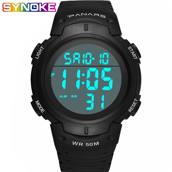 SYNOKE Mens Digital Watches Fahion Fitness Shock Watch Mens Waterproof Watches Male Clock Stopwatch Sport Watch Man Fashion
