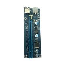 Usb 3,0 Mini Pci-E к Pcie Pci Express 1X к 16X удлинитель Riser Card Adapter Sata 6Pin 60 см кабель питания для Биткоин Btc Mi