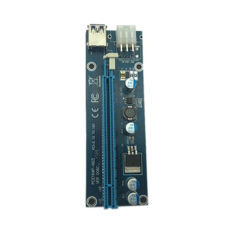 Usb 3.0 Mini Pci-E To Pcie Pci Express 1X To 16X Extender Riser Card Adapter Sata 6Pin 60Cm Power Cable For Bitcoin Btc Mi