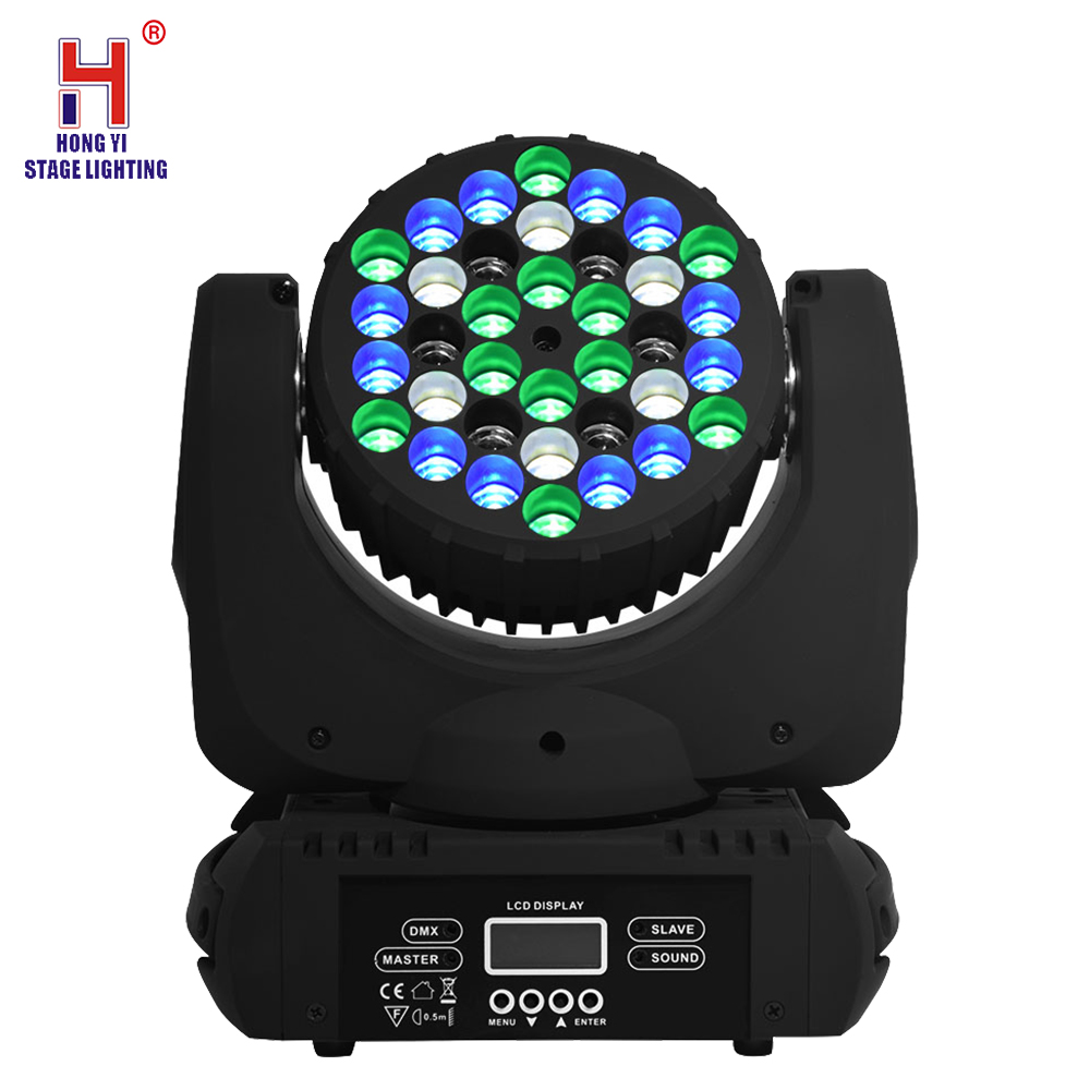 36X3W RGBW LED Moving Head Light Wash Stage Light DMX512 Strobe Led Light Good For Dj Disco Light Stage Party Lights