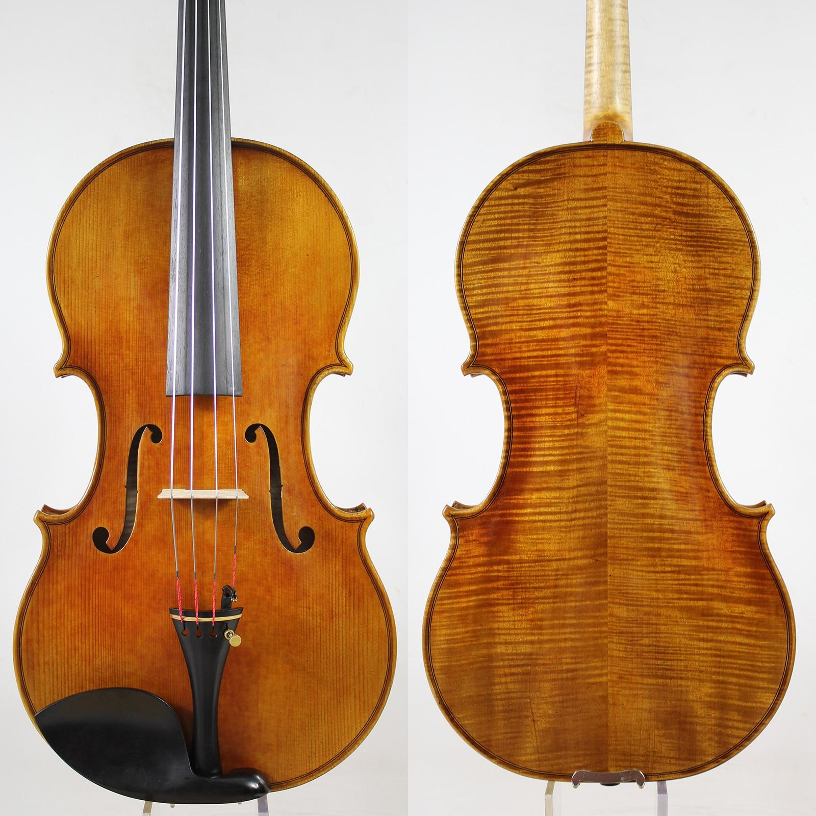 """¡Después de la copia de la Viola de 16-16,5 pulgadas de Guarner Del Ges! ¡Nivel profesional! Barniz de aceite antiguo arco de la caja """"madera europea"""" ¡envío gratis!"""
