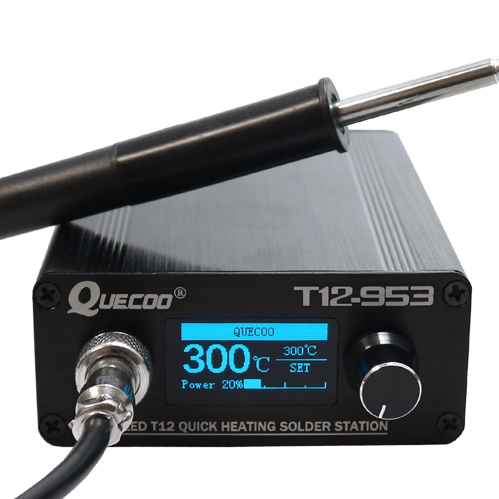 OLED T12-953 STM32 Controller Soldering Station Electronic Solder Iron With P9 Plastic Handle And Iron Tips Without Power Cable