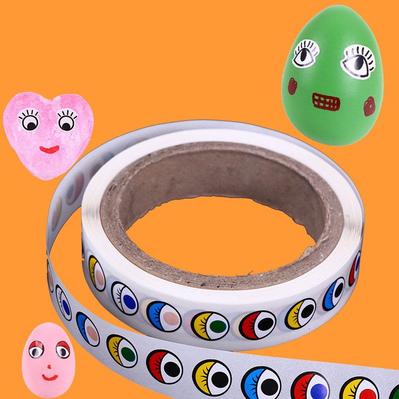 Black And White Colour Eyes Subsidies Eyeball  Sticker Pressure-sensitive Adhesive Children Manual Diy Activity Originality