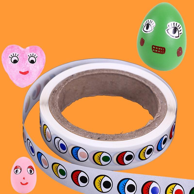 Black And White Colour Eyes Subsidies Eyeball  Sticker Pressure-sensitive Adhesive Children Manual Diy Activity Originality