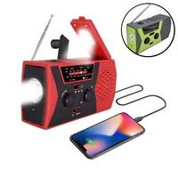 EDC-cargador de emergencia de teléfono USB, 2000mAh, manivela de mano, Radio meteorológica portátil para cargador de exterior, equipo de acampada, herramienta de supervivencia