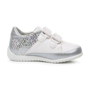 Image 5 - Apakowa Baby Girls Fashion Glitter Lightweight Hook & Loop Sneakers Toddler Kids Outdoor Low Top Breathable Sports Running Shoes