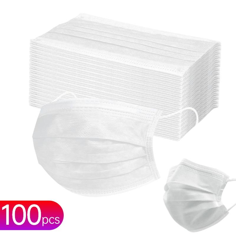 Быстрая Доставка Защитная маска черный, белый цвет Безопасность Анти-пыль одноразовые маски 3 слоя нетканый материал, изготовленный аэроди...