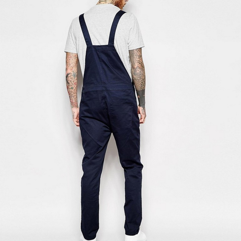For Man Suspender Pants Men's Jeans Jumpsuits High Street Distressed 2021 Autumn Fashion Denim Male Plus Size S-3XL