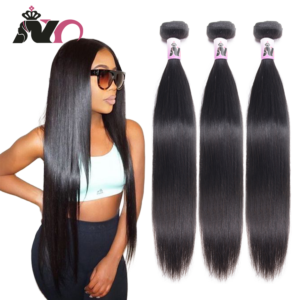 NY Straight Hair Bundles Peruvian Human Hair Bundles 8~30 Inch 3 Bundles Deals Non Remy Hair Extension For Black Woman Cabelo