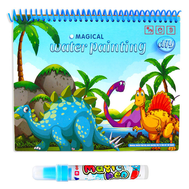 Magic Water Drawing Book With Magic Pen Painting Drawing Board Coloring Book Toys For Children Education Drawing Toy Kids Gifts 5