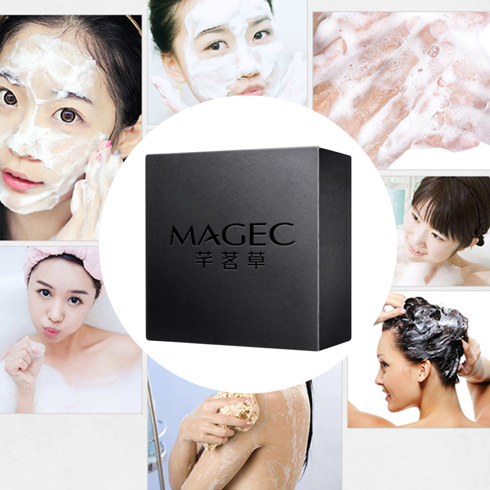 Basis Black Moisturizing Treatment Blackhead Remover Gift Natural Acne Face Control Oil Cleaning Handmade Soap Mini Skin Care