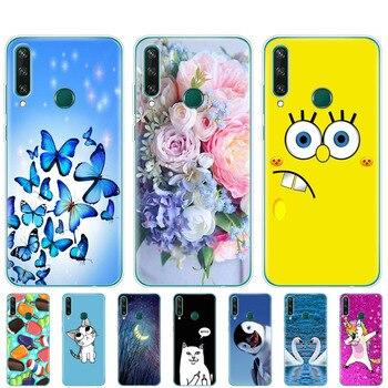 Перейти на Алиэкспресс и купить Чехол для Huawei Y6P, Мягкий Силиконовый ТПУ чехол 6,3 дюйма для телефона Huawei y6p 2020 Y 6P, чехол-бампер для задней панели Huawei weiy6p, чехол-накладка