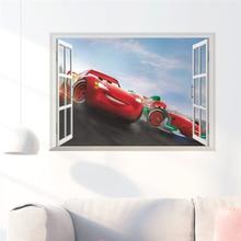3d Effect Disney Cars Window Wall Stickers Bedroom Nursery Home Decor Cartoon Mcqueen Decals Pvc Mural Art Diy Posters