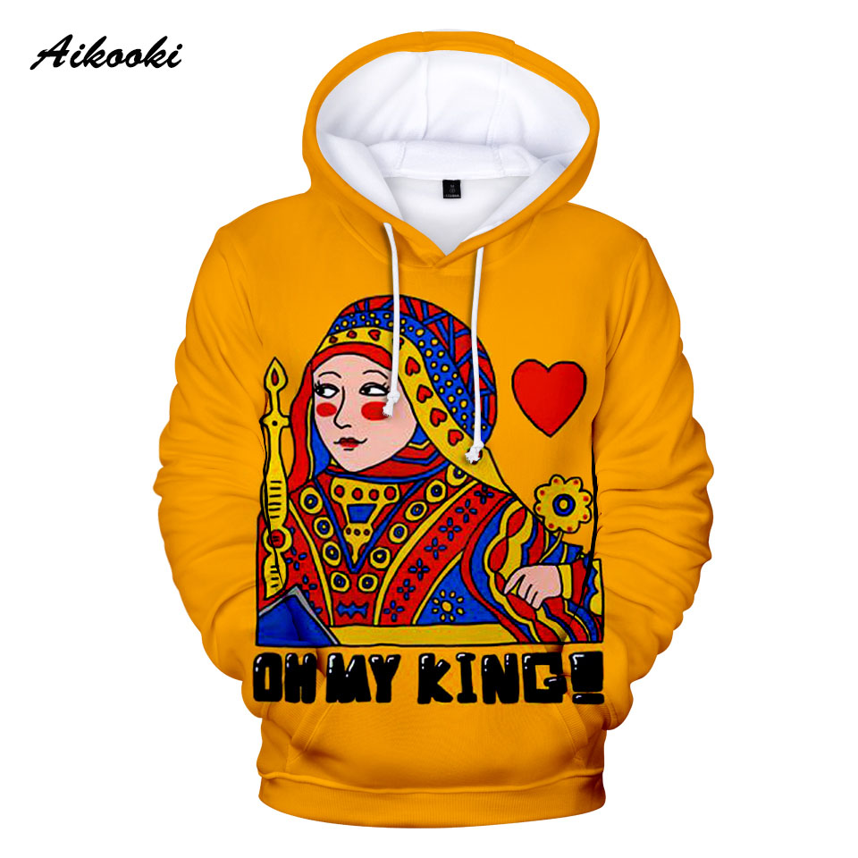 KING QUEEN 3D Hoodies Men Women Autumn Winter New Hot Sale Sweatshirts Hoody 3D Funny Playing Cards Poker Hooded Polluvers Top