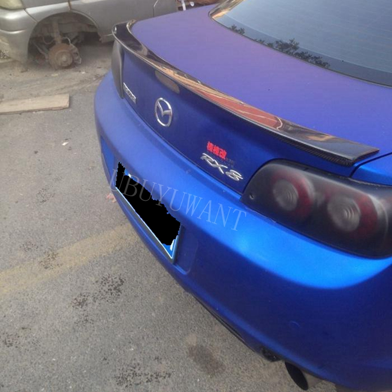 For Mazda 3 <font><b>RX8</b></font> Spoiler 2005-2010 High Quality Carbon Fiber Car Rear <font><b>Wing</b></font> Primer Color Rear Spoiler For Mazda 3 Spoiler Sedan image