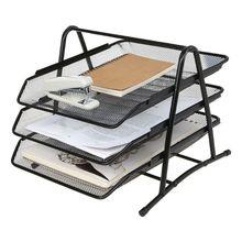 File-Holder Office Organizer-Supplies Document-Rack Letter-Tray Desk Metal Mesh for Home