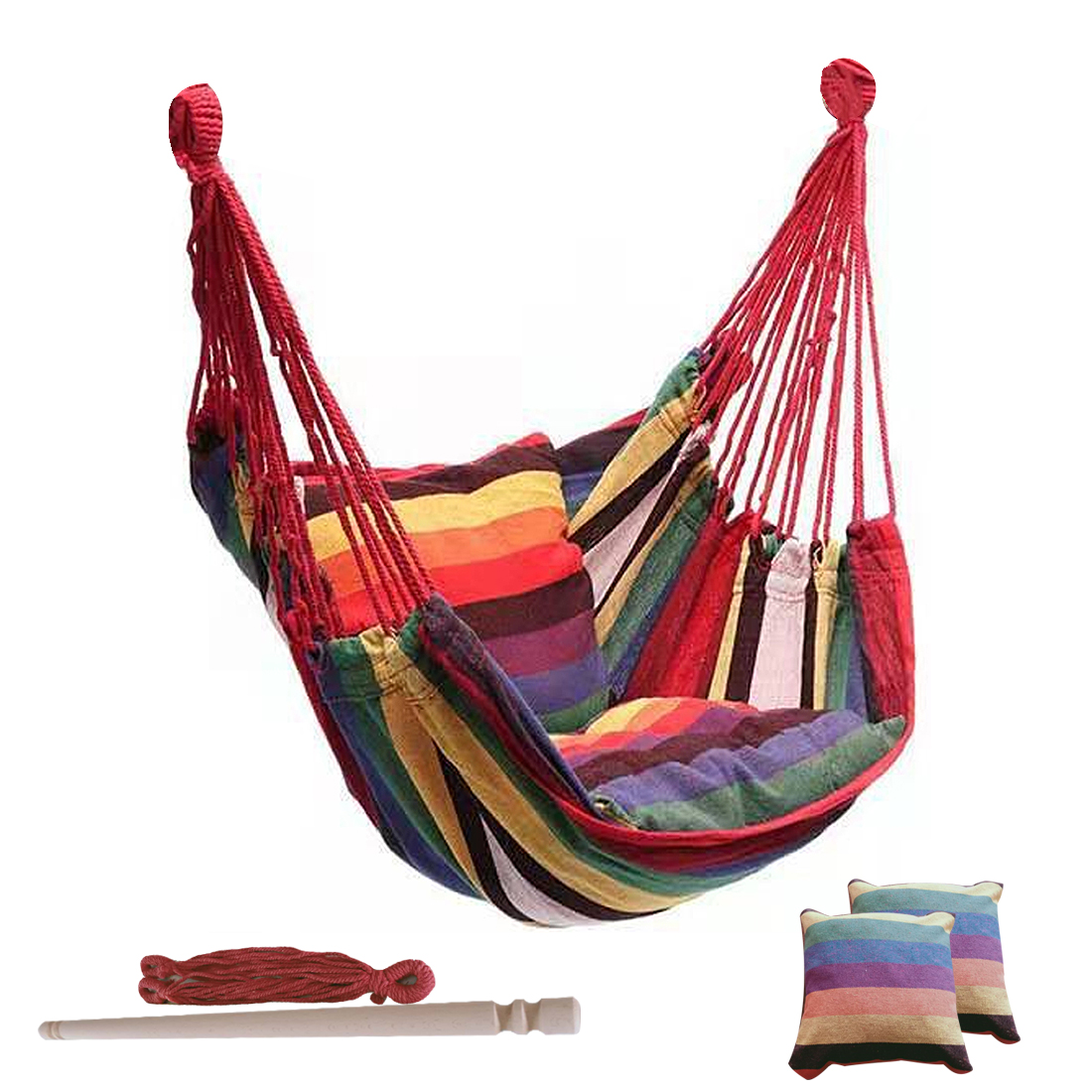 Portable Hanging Rope Hammock Chair Swing Seat, Travel Camping  Hammock Chair Relax Hanging Swing Chair For Indoor/Outdoor