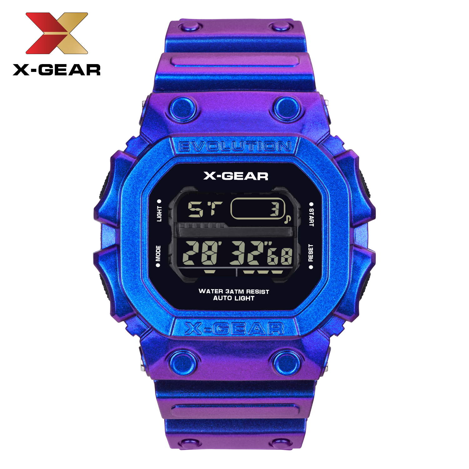 X-GEAR Military Sports Watches Waterproof Mens Watches Top Brand Luxury Clock Electronic LED Digital Watch Men Relogio Masculino