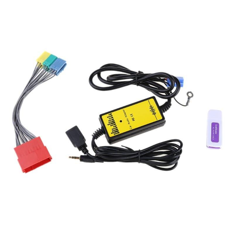 Para Ford Puma MP3 SD USB CD AUX entrada adaptador de Audio Digital Módulo de cambiador de CD 12