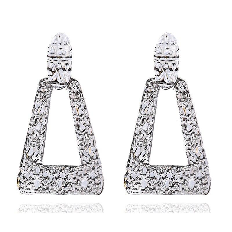 Mostyle 30 стилей модные большие винтажные золотые серебряные розовые золотые геометрические массивные металлические Висячие серьги для женщин - Окраска металла: 62946