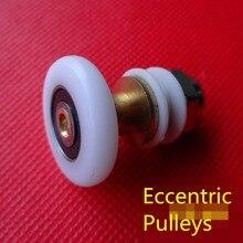 8PCS 19/23/25/27mm Diameter Shower Glass Sliding Door Hanging Wheel Roller Bathroom Cabinet Eccentric Pulleys