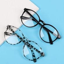 1Pc occhiali da miopia montatura rotonda occhiali da vista Anti luce blu donna uomo protezione UV occhiali da gioco occhiali ottici-1.0 ~-4.0