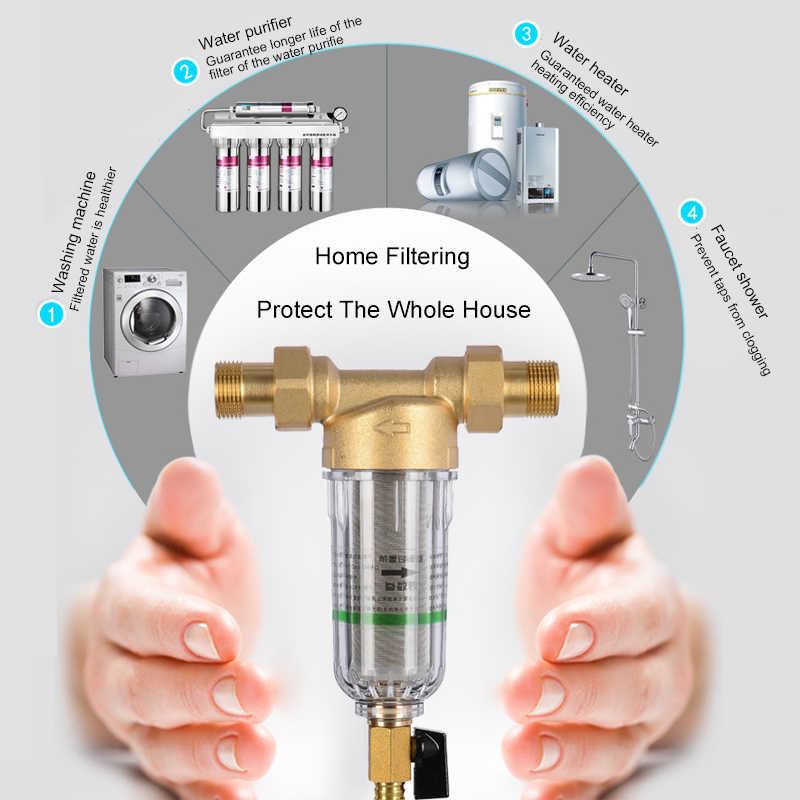 Система предварительного фильтра для воды 1 дюйм с 2/5 дюймовым латунным сетчатым префильтром центрального очистителя воды с манометром