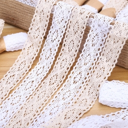 2Yard/Lot Natural White Lace Trim Cotton Lace Ribbon Crafts for Sewing DIY Handmade Home Wedding Decoration Lace Fabric 2.8cm