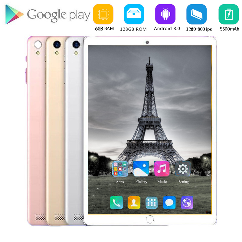 2020 Sales Hot 10 Inch Tablet Pc Android 8.0 1280*800 IPS 4G LTE Octa Core 6GB RAM 128GB ROM 5MP WiFi GPS Tablets 10.1 Tablet Pc