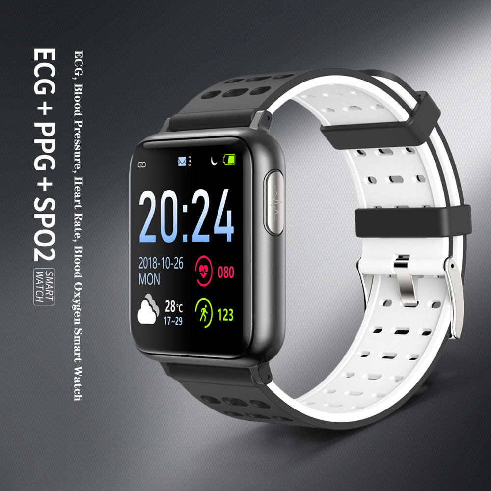 V5 Smart Bracelet Band With Heart Rate <font><b>Blood</b></font> <font><b>Pressure</b></font> SPO2 PPG ECG Waterproof Bluetooth Bracelet Smart <font><b>Watch</b></font> PK <font><b>4G</b></font> smart <font><b>watch</b></font> image