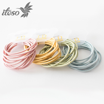 ITESO 10 Pcs Simple Candy Colors Hair Accessories For Women Rubber Ponytail Hair Rope Elastic Hair Bands Wholesale 1 pcs new simple hair scrunchies flower beads double line elastic hair bands candy color lovely hair rope hair accessories girls