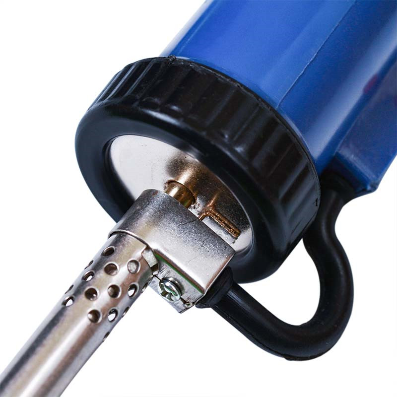 home improvement : Solder Sucker 30W 220V 50Hz Electric Vacuum Desoldering Pump Iron Gun Soldering Black Blue Repair Tool with Nozzle and Drill Rod