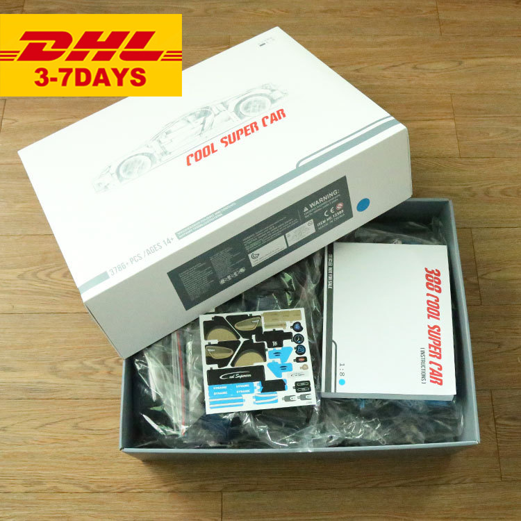 IN STOCK DHL DECOOL Three colors Red Black Blue Racing Car Technic 3625Pcs 3388 Model Building