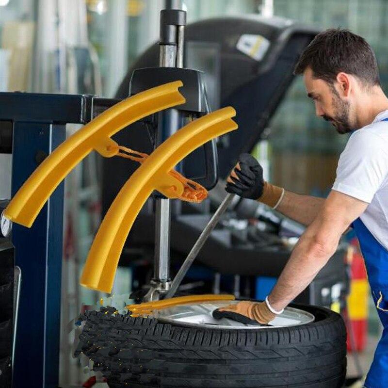 2pcs Tire Repair Changer Tools Tire Guard Rim Protector Elasticity Cover Work For Tyre Wheel Changing Rim Edge Repair