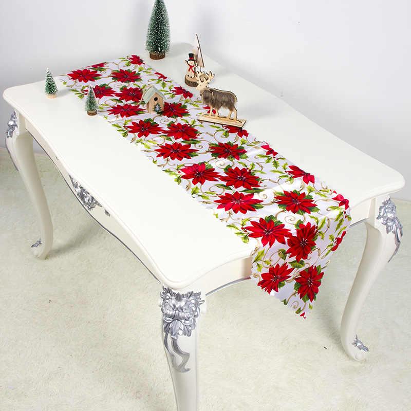 35x180 سنتيمتر عيد الميلاد الجدول عداء حصيرة Tablecloth عيد الميلاد العلم ديكور المنزل سانتا كلوز نسيج الجدول العدائين