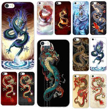 Soft Silicone TPU Phone Cases for iPhone X XR XS Max 8 8Plus 7 7Plus 6 6S 6Plus 6SPlus 5 5S SE Bags Oriental Chinese Dragon(China)