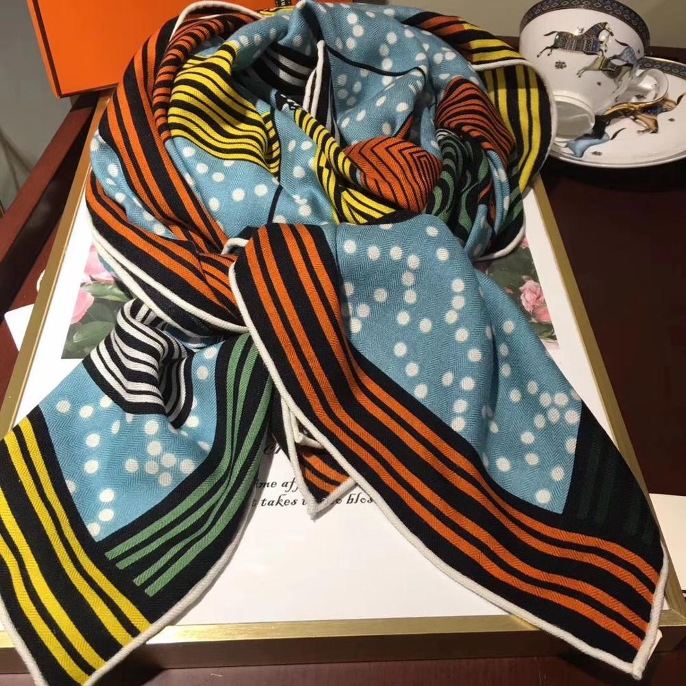 2019 New Arrival Winter Horse Colorful 70% Cashmere 30% Silk Big Scarf 135*135 Cm Warm Fashion Wrap Shawl For Women Lady Girl