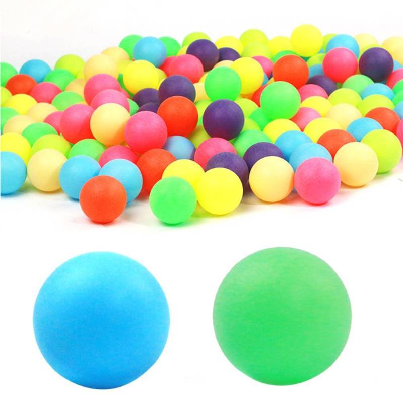 100pcs 40mm PP Plastic Material Table Tennis Training Ping Pong Ball COLORFUL