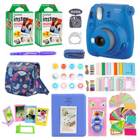 Fujifilm Instax Mini 9 Instant Photo Film Paper Camera Shoulder Strap Bag Printing Camera 40 Sheets Accessories Bundle Gift Set