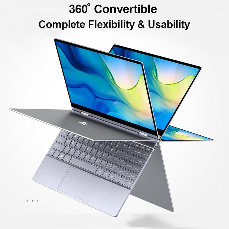 BMAX Y13 360 ° ordinateur portable 13.3 pouces ordinateur portable Windows 10 8GB LPDDR4 256GB SSD 1920*1080 IPS Intel N4100 ordinateurs portables à écran tactile