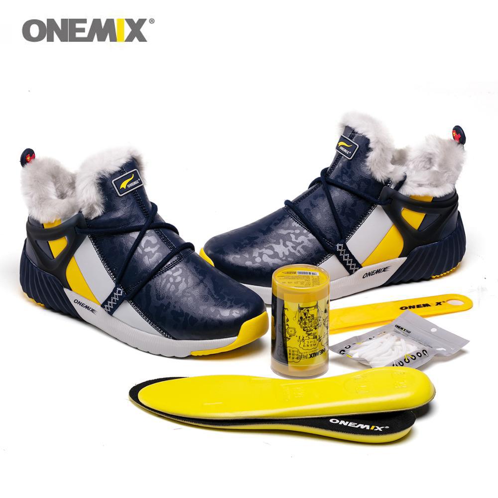 ONEMIX Men Snow Boots Waterproof Warm
