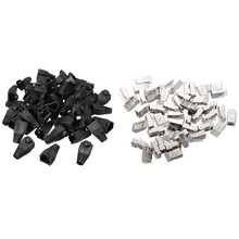 50 Pcs Silver Tone Shielded RJ45 8P8C Network Cable CAT5 End Plug & 50X Plastic Boot Cap Plug Head for RJ45 Cat5/6 Cable Modular(China)
