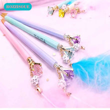 Feather Pencils for School 0.5mm Automatic Pen Cute Diamond Mechanical Pencil for Students Learning Writing Supplies Pencil 2b(China)